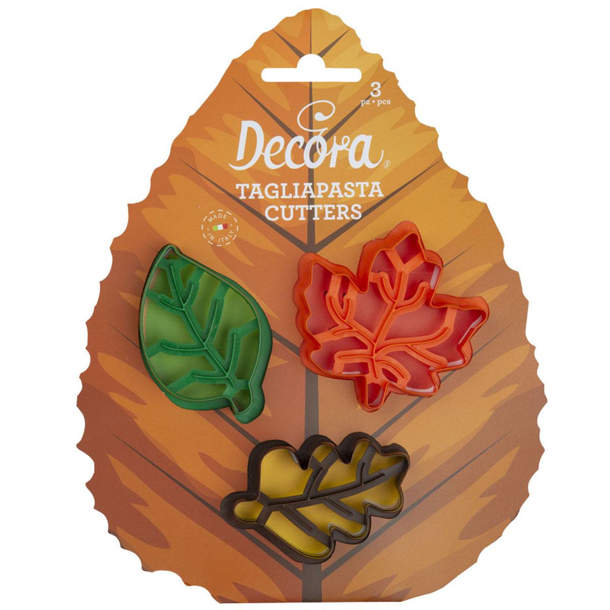 Decora Ausstecher - Herbstblätter 3 tlg