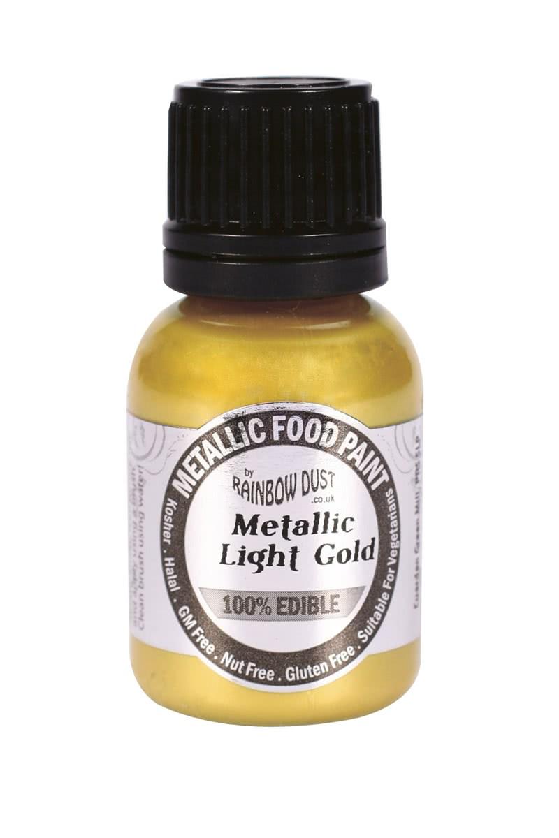 RD Edible Food Paints – Metallic Light Gold