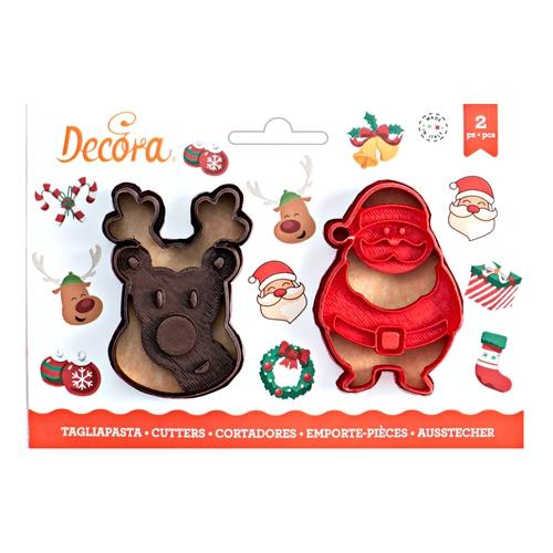 Decora Ausstecher Set Weihnachten Nikolaus und Elch