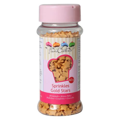 Funcakes Zuckerdeko Sterne Gold 60g