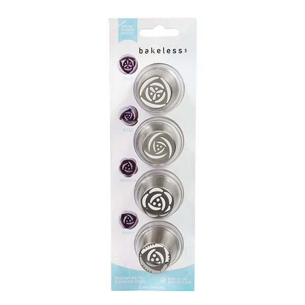 Bakeless Piping Flower Nozzle - 4teilig
