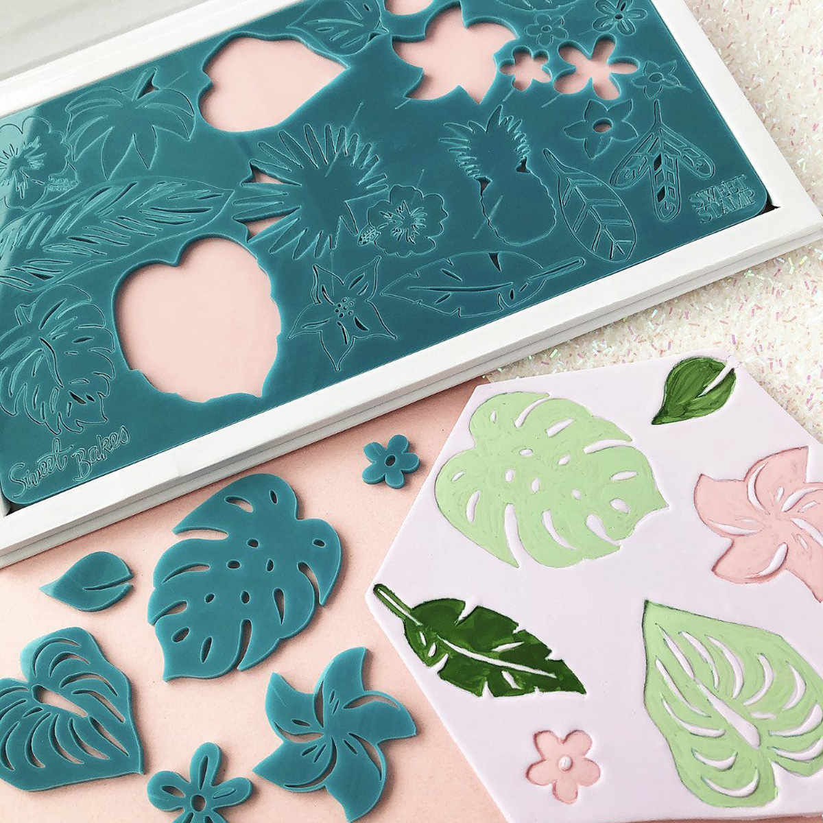 Sweet Stamp Tropical Vibes - Blumen und Blätter