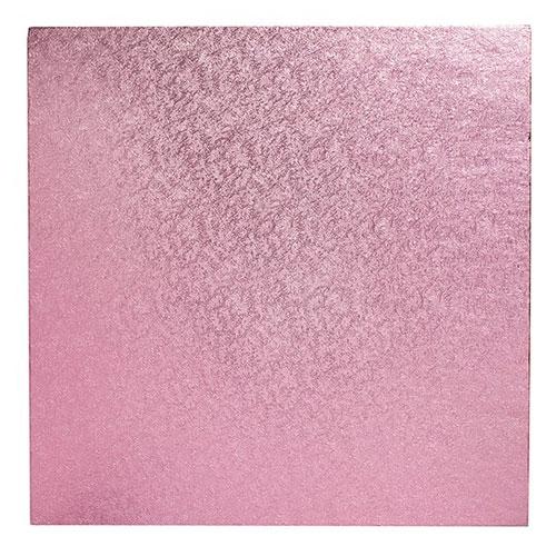 Cake Board Quadrat 30cm - Rosa