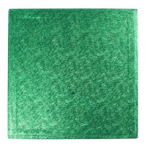 Cake Board Quadrat 30cm - Grün