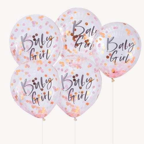Ginger Ray Konfetti Luftballons - Baby Girl