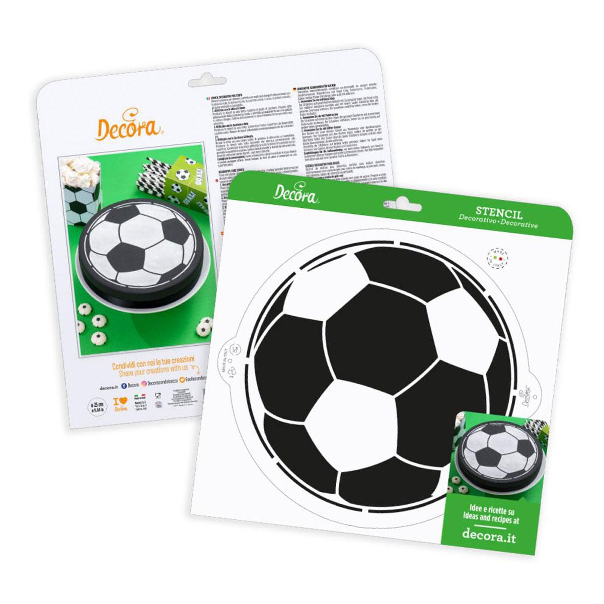 Decora Schablone Fußball 25cm