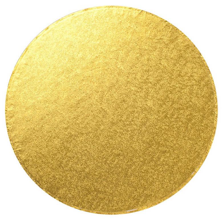"Cake Board 12"" 30cm Rund Gold"