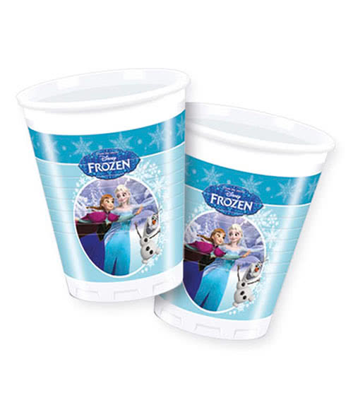Plastikbecher Frozen - Ice Skating 8 Stück