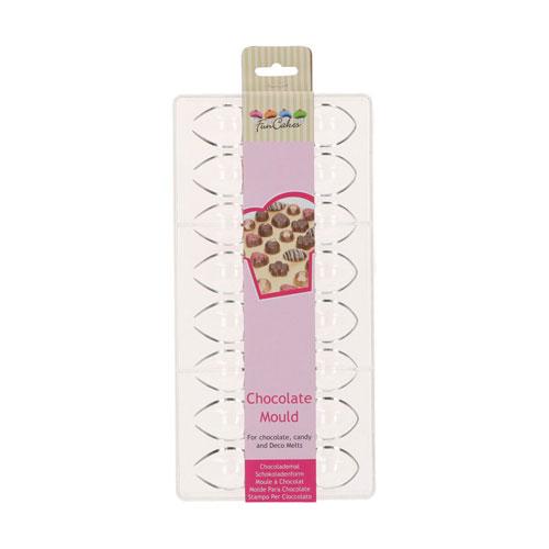 Funcakes Schokoladenform Praline - Olive