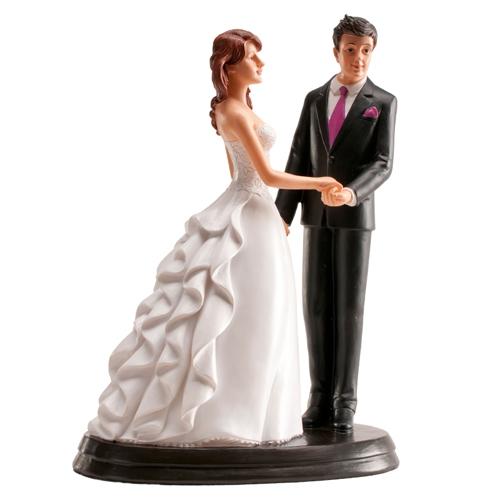 Dekorative Tortenfigur Hochzeitspaar - Romantisch 20cm