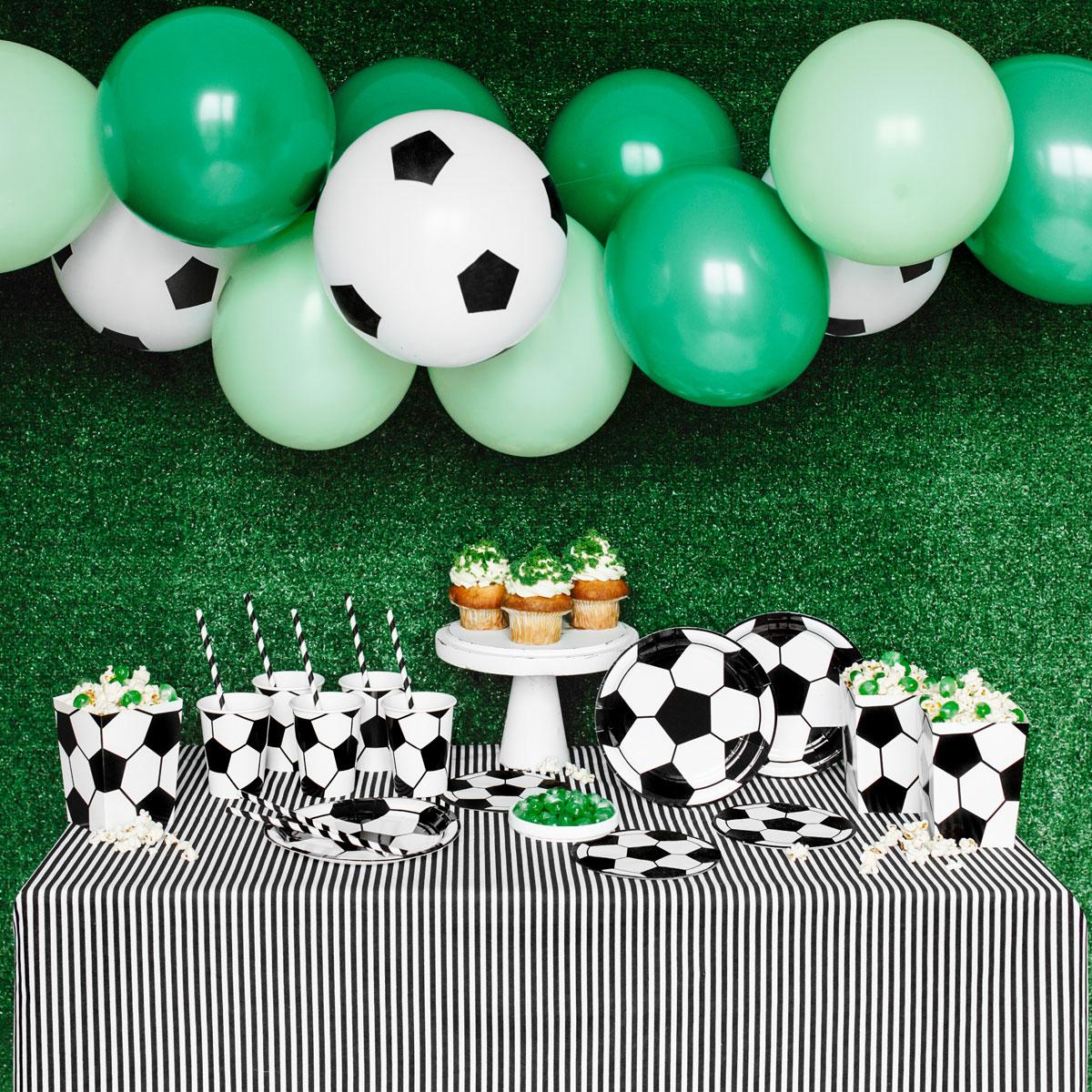 PartyDeco Party Deko Set - Fußball Party Set 60teilig