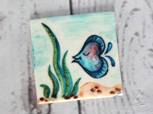 Malen mit Pastenfarbe und Wasser