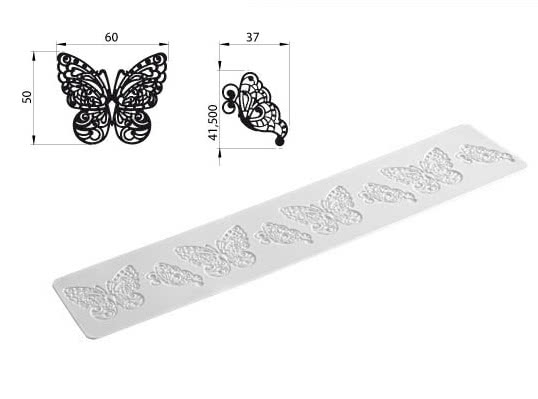 Tricot Decor Butterfly Silikonstreifen