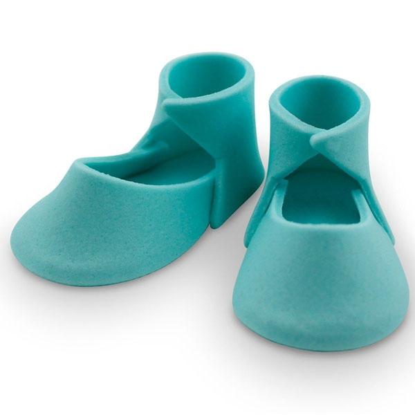 MHD 01/21 PME Edible Cake Topper Medium Baby Bootee - Blue