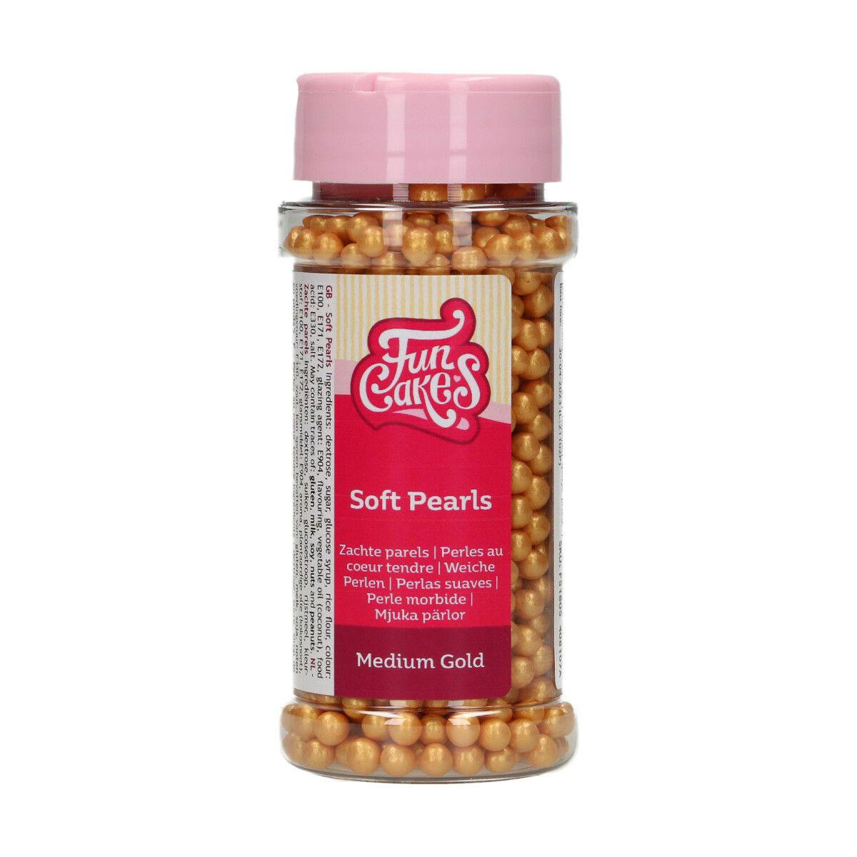 FunCakes weiche Zuckerperlen Gold 60g