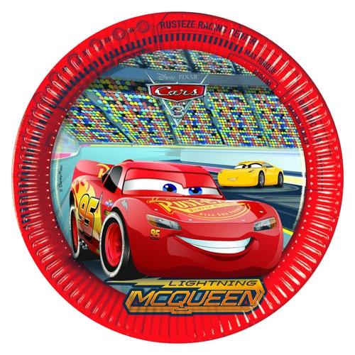 Pappteller Cars 3 - 23cm