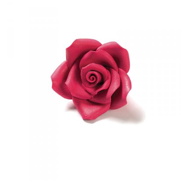 Decora Zuckerrosen 6 Stück 5cm - Rot