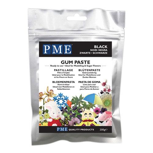 PME Gum Paste - Blütenpaste Schwarz 200g
