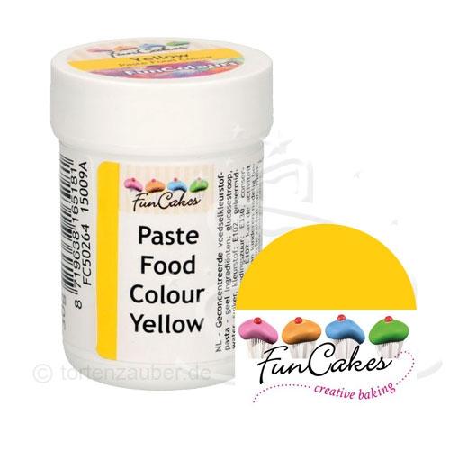 Funcakes Funcolours Pastenfarbe - Yellow 30g