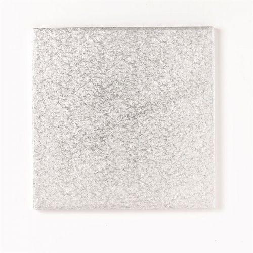 """Cake Board 4"""" 10,0cm Quadrat Silber- 1cm dick"""