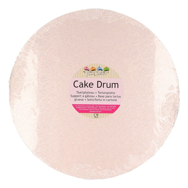 Funcakes Cake Drum 30,5cm Rund Rose-Gold