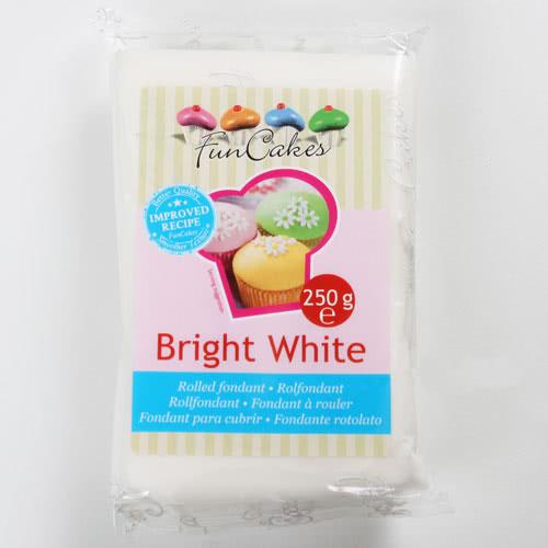 Funcakes Fondant Bright White - Vanille 250g