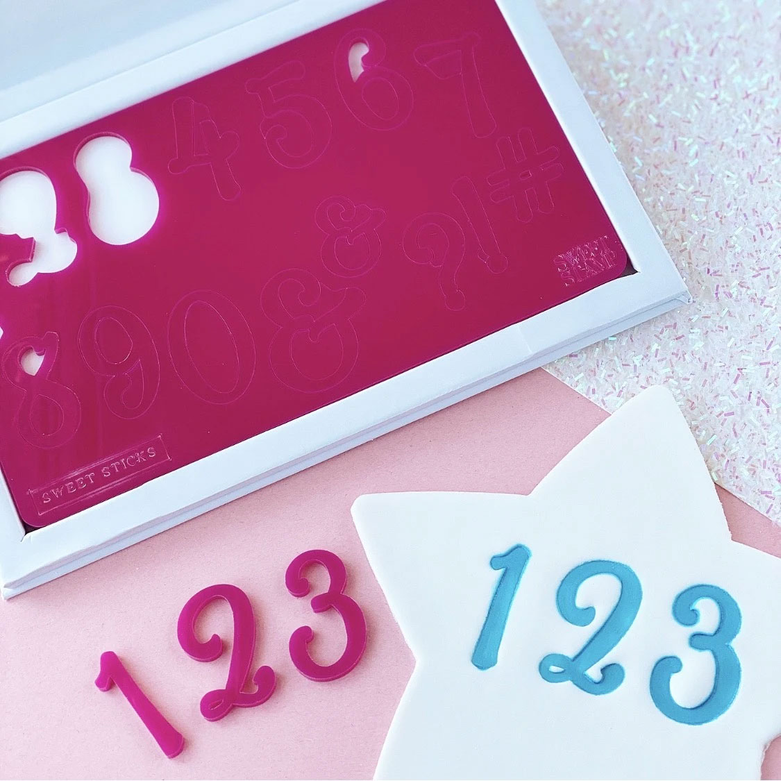 Sweet Stamp SWEET STICKS Number Prägeset - Zahlen