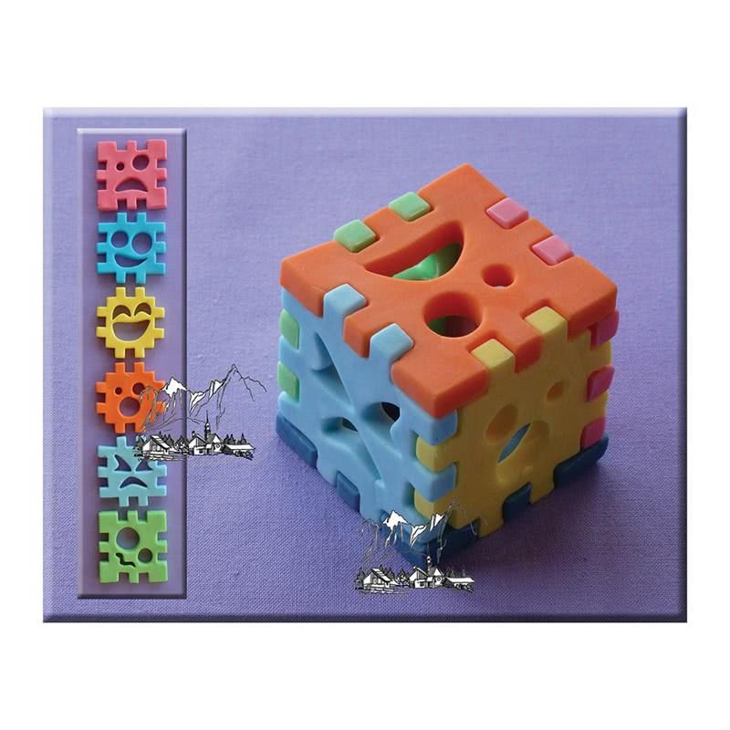 Alphabet Moulds – 3D Würfel - 3D Cube