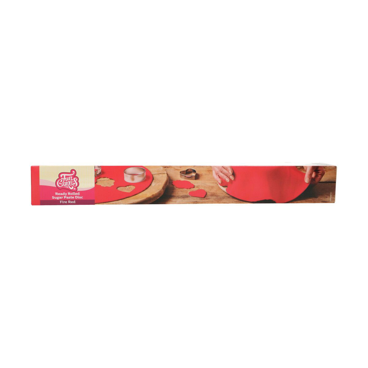 Funcakes ausgerollte Fondantdecke - Rot 36cm