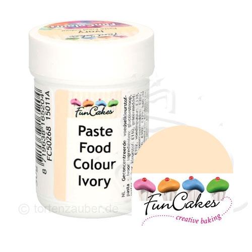 Funcakes Funcolours Pastenfarbe - Ivory 30g