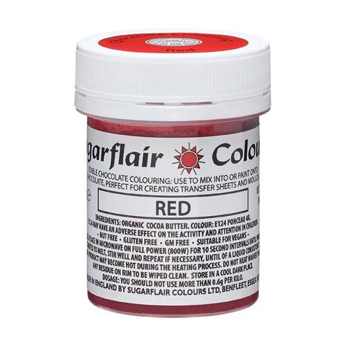 Sugarflair Chocolate Colouring - Schokoladenfarbe Red 35g