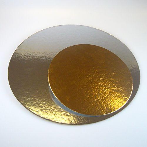 FunCakes Cake Cards silber/gold  26cm - 3 Stück