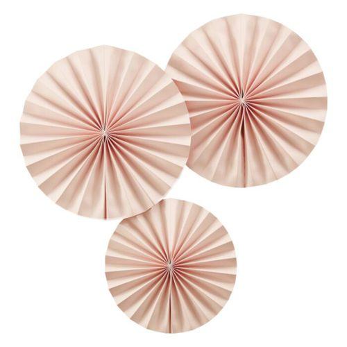 Ginger Ray Fächerdekoration - Papierrosetten Rosa