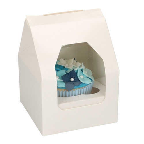 Funcakes Cupcake-Schachtel 1er Weiß - 5 Stück