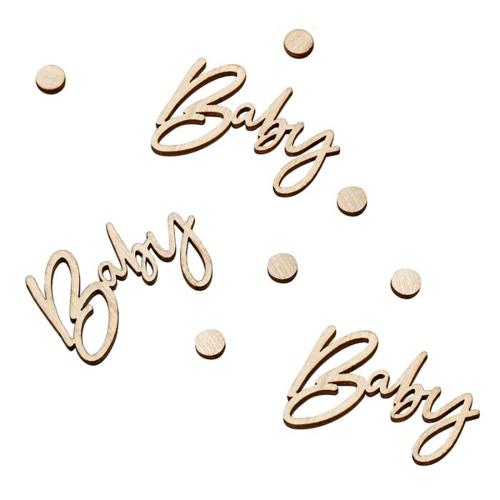 Ginger Ray Tischkonfetti Baby - Holz