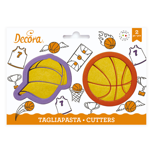 Decora Kunststoff Ausstecher Baskettball 2tlg