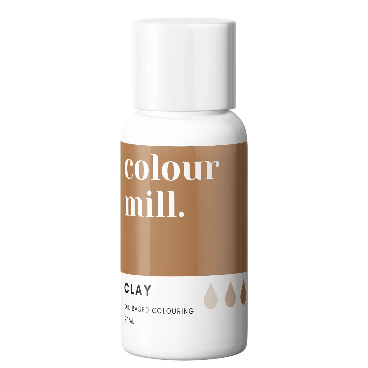 Colour Mill fettlösliche Lebensmittelfarbe - Clay 20ml
