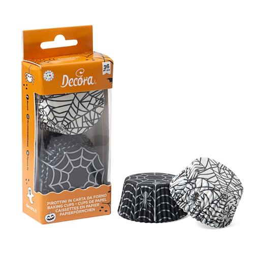 Decora Cupcake Papierbackförmchen Spider 36 Stück