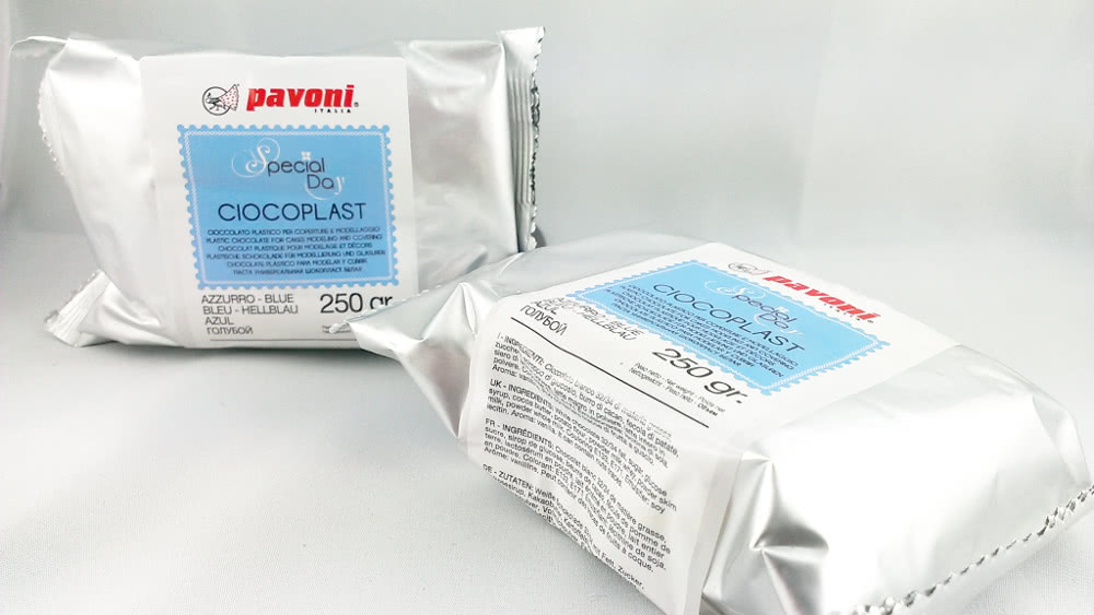 Modellierschokolade 250g blau