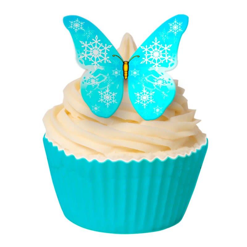 Esspapier Schmetterlinge - Blue Snowflake
