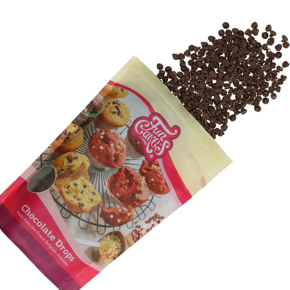 FunCakes Chocolate Drops Dunkle Schokolade 350g