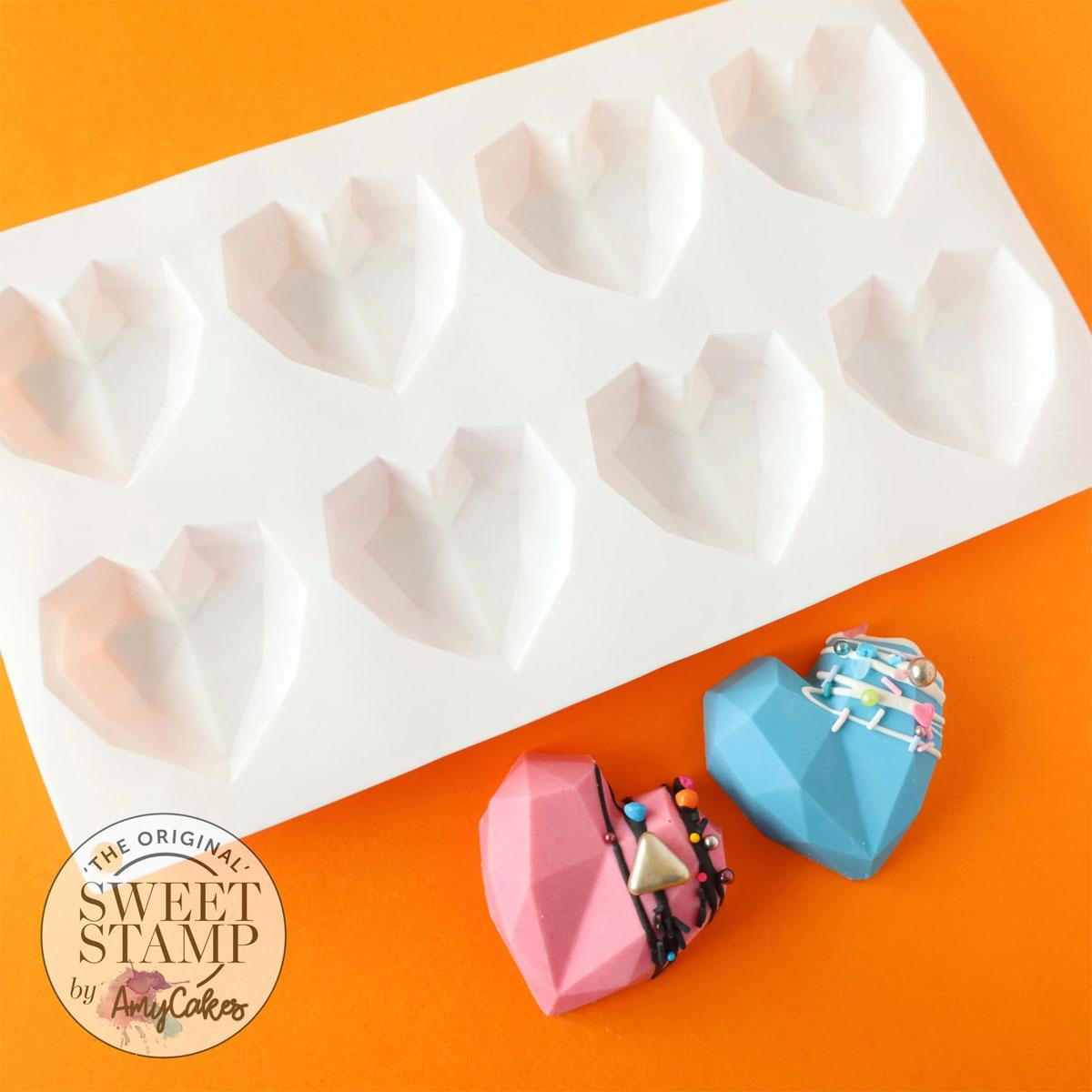 Sweet Stamp Cakesicles Silikonform - Mini Geometric Heart
