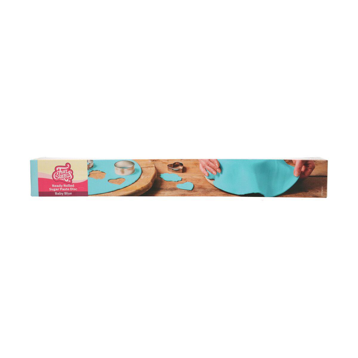 Funcakes ausgerollte Fondantdecke - Babyblau 36cm