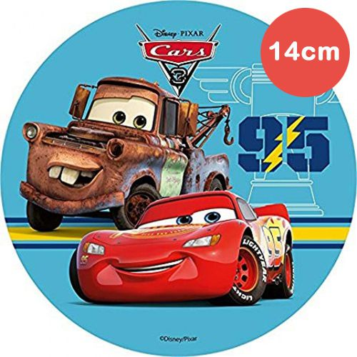 Mini Tortenaufleger Esspapier  - Cars -  Hook - 14cm