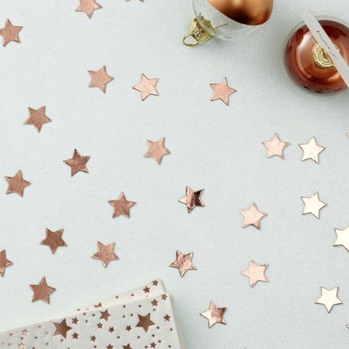Ginger Ray Tischkonfetti Sterne - Rosegold