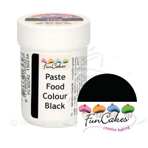 Funcakes Funcolours Pastenfarbe - Black 30g