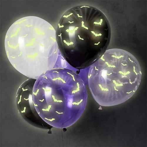 Ginger Ray Halloween-Ballons - leuchtend 6 Stück