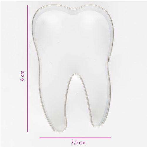 Keksausstecher Edelstahl - Zahn 6,0cm