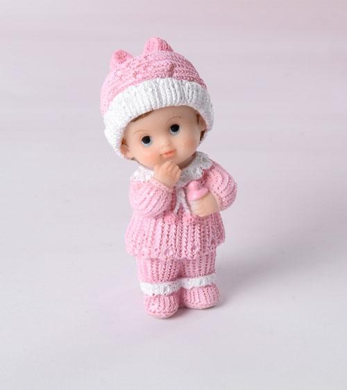 Decorative Tortenfigur Kleinkind Mädchen - Rosa