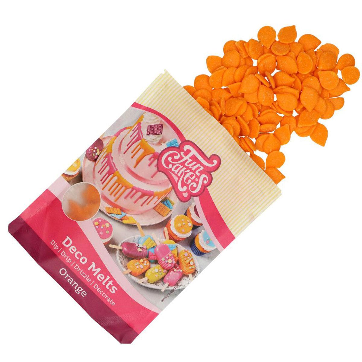 Funcakes Deko Melts - Orange 250g
